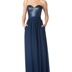Bari Jay Bridesmaid Maxi Dress Sz 8
